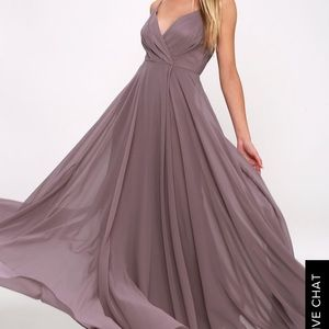 Lulus All About Love Dusty Purple Maxi Dress